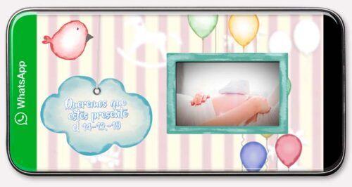Invitaciones animadas BabyShower